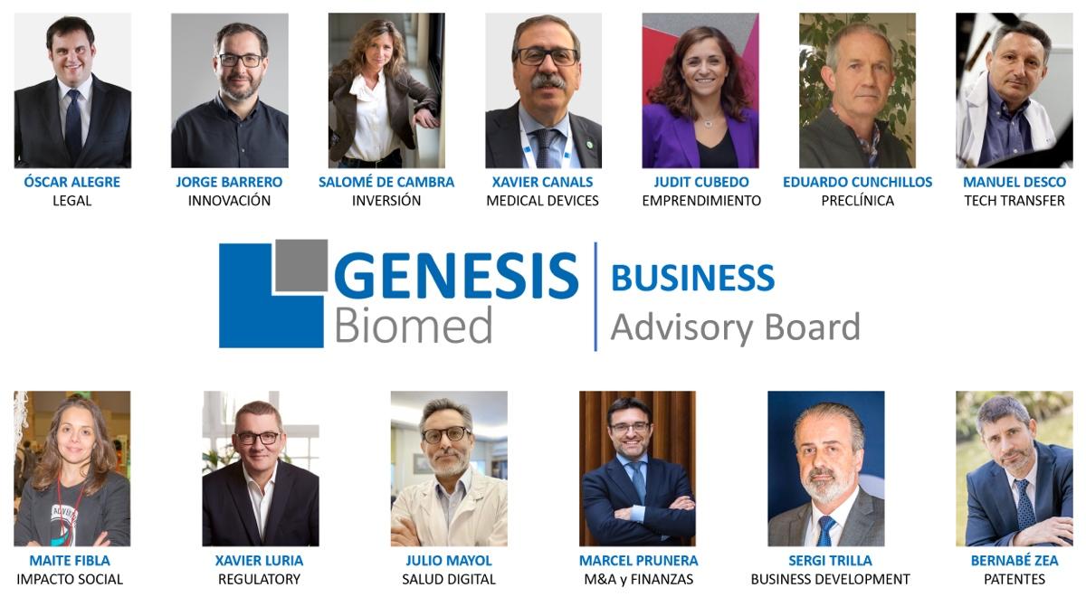 GENESIS Biomed se refuerza con la contratación de un panel de asesores de primer nivel